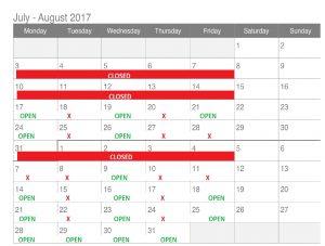 Boyd's Alternative Health Summer Hours for 2017