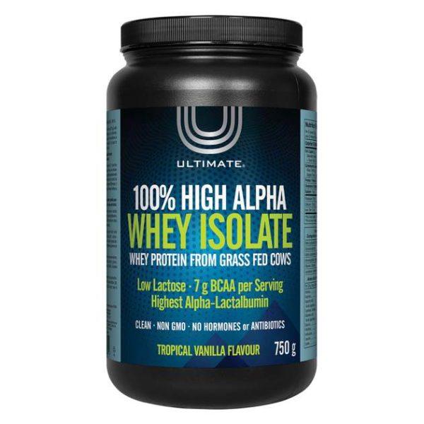 ultimate high alpha protein powder tropical vanilla boyds alternative health